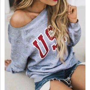 Host Pick X 2 🌟 Comfy Lightweight USA Sweatshirt